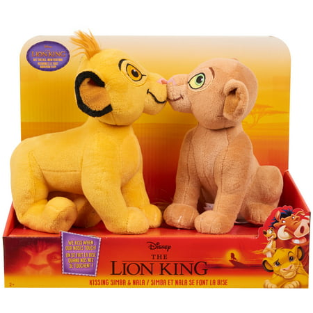 Disney's The Lion King Kissing Plush- Simba & Nala