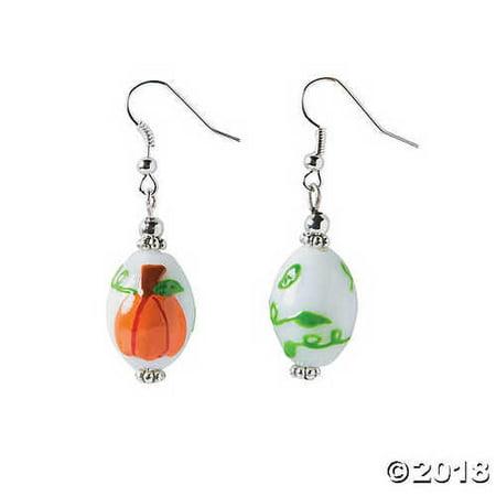 Pumpkin Lampwork Glass Earring Craft Kit (Pumpkin Craft)