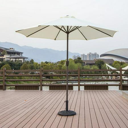 9ft Outdoor Adjustable Height Anti-UV Patio Umbrella 8 Rib Market Umbrella Fade Resistant Sunshade Beach Umbrella Garden Shade or Pool with Crank without Base - image 6 de 7