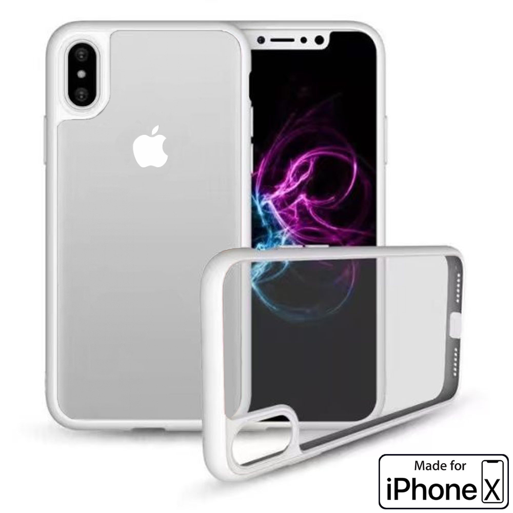 Apple iPhone X Case Crystal Clear Protector Shockproof Soft Cover (White) - image 3 de 3
