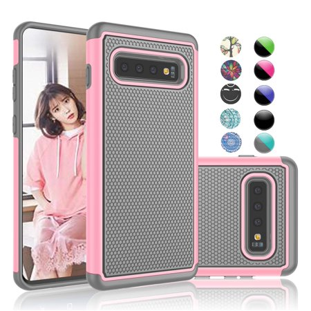 Samsung Galaxy S10 Plus Case, Galaxy S10 Plus Case For Girls, Njjex [Shock  Absorption] Drop Protection Dual Layer Armor Defender Protective Case For