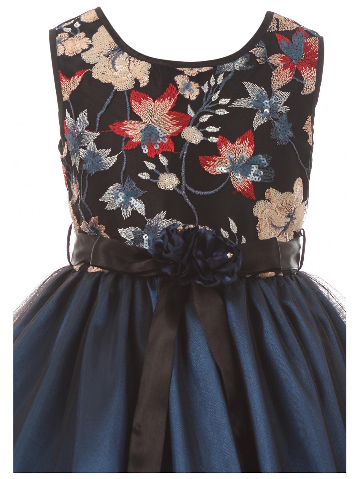 7e4de405478 Dreamer P - Little Girls Floral Tulle Christmas Birthday Holiday Party  Flower Girl Dress Teal 4 (J21KS48) - Walmart.com