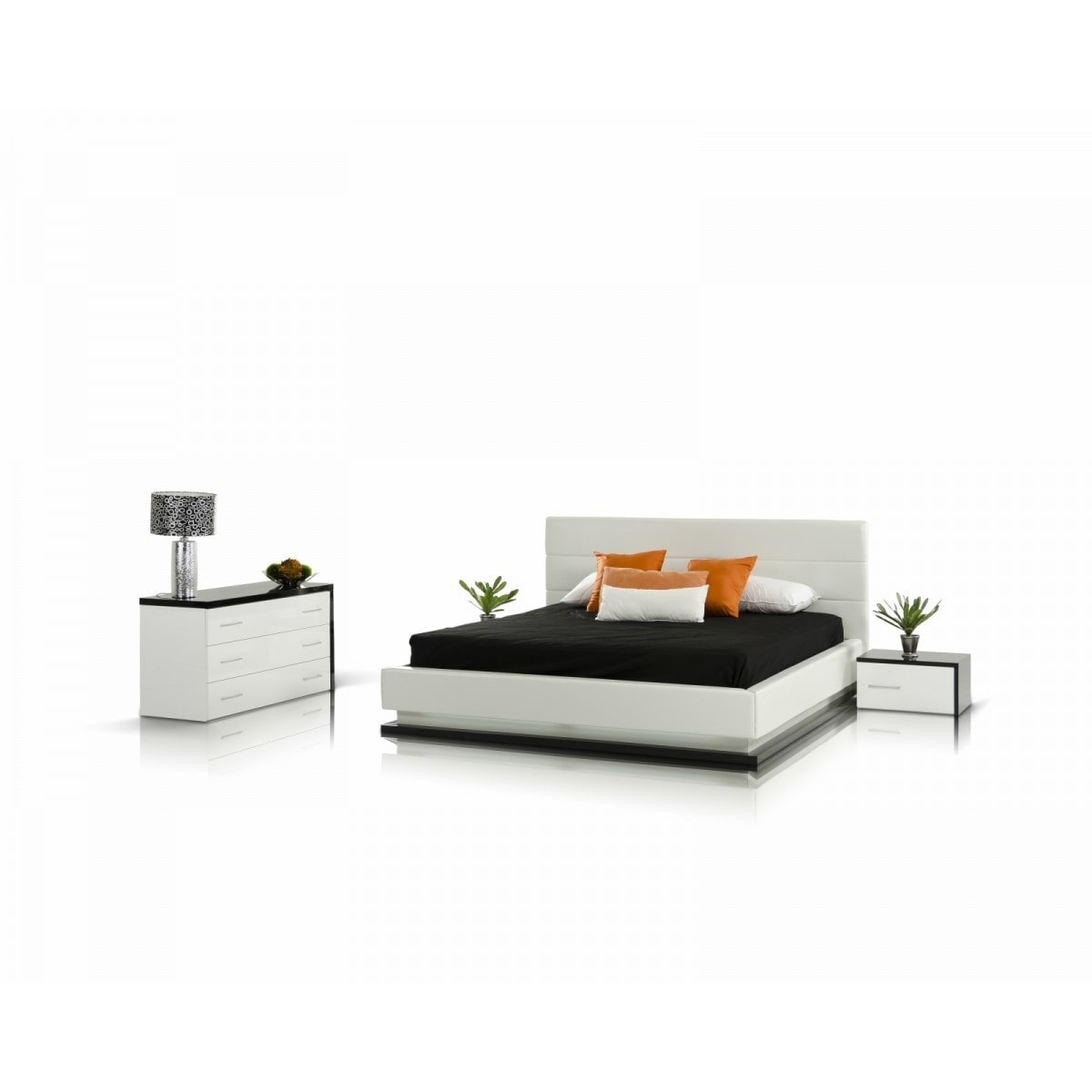 Beau VIG Furniture Inc. Modrest Infinity   Contemporary Black U0026 White Bedroom Set