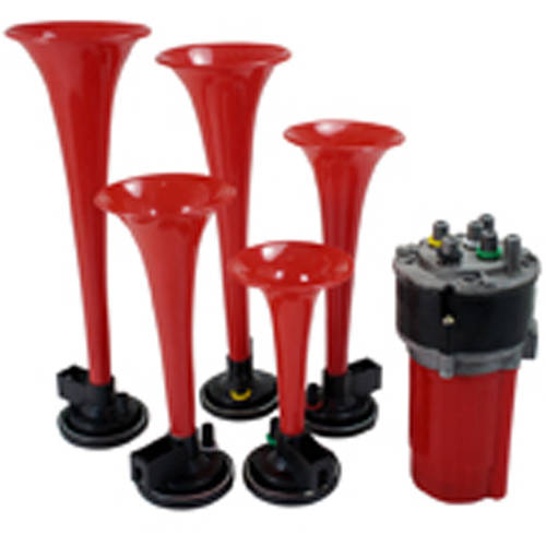 Spec-D Tuning Music Air Horn Red with 110dB 12V Compressor, La Cucaracha