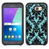 Hybrid Case for Samsung Galaxy J3 Luna Pro 4G LTE / J3 Eclipse, OneToughShield ® Dual Layer Shock Absorbing Phone Case (Black) - Victorian Blue/Black This is a dual-layer design phone case. The outer layer is constructed of high quality hard plastic protects against scratches and casual drops. The inner piece is made with durable TPU Gel material, wraps around the edges and back of the phone. Shock Absorbing.