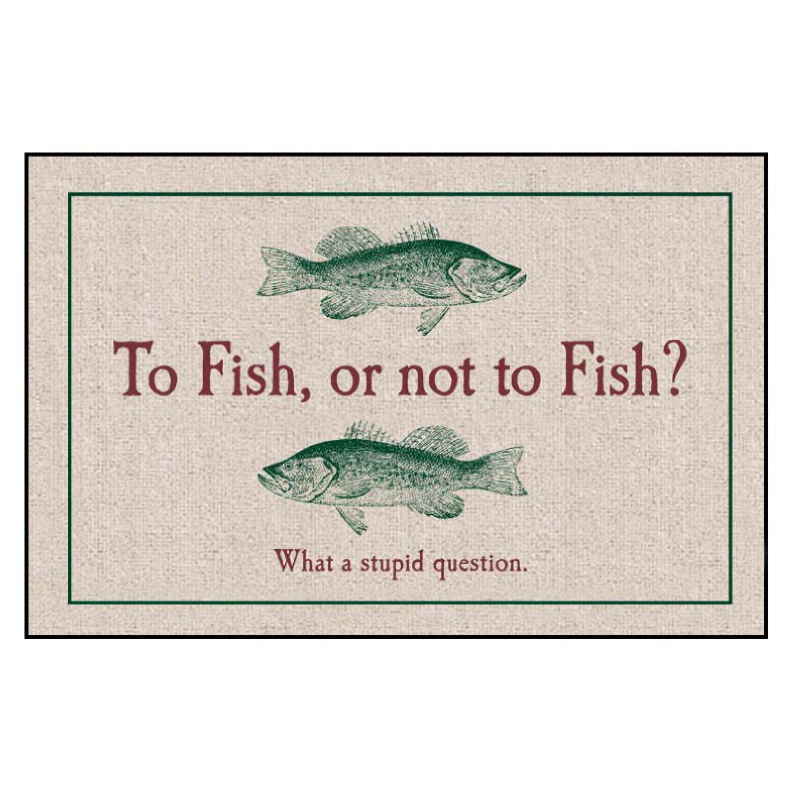To Fish or Not to Fish Indoor/Outdoor Door Mat