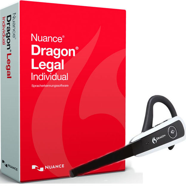 Nuance 369041 Dragon Naturally Speaking Legal Version 14 Speech Recognition Software with Wireless Bluetooth Headset and USB Dongle