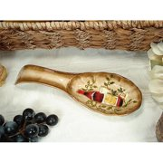 DLusso Designs C3240 Spoon Rest Tuscan Harvest Design, Pack Of - 4.