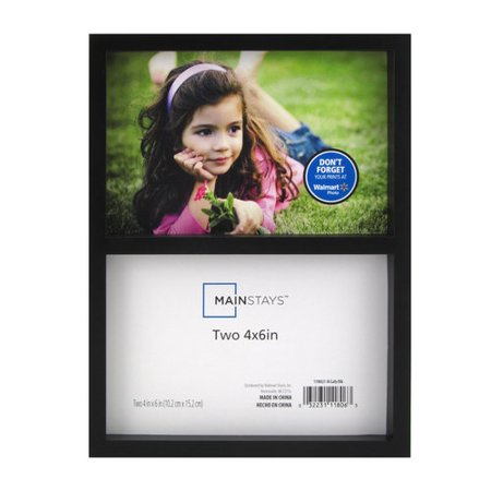 Mainstays 2-Opening 4x6 Gallery Collage Frame, Black - Walmart.com