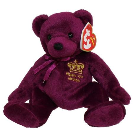 TY Beanie Baby - MAJESTIC the Bear (UK, Australia & New Zealand Exclusive) (7.5 inch) (Australian Plush)