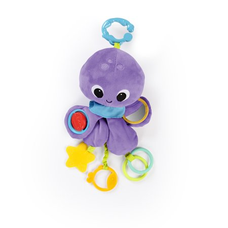 Bright Starts Twirly Whirly Octopus Easy Travel Take-Along Plush - Twirly Girl