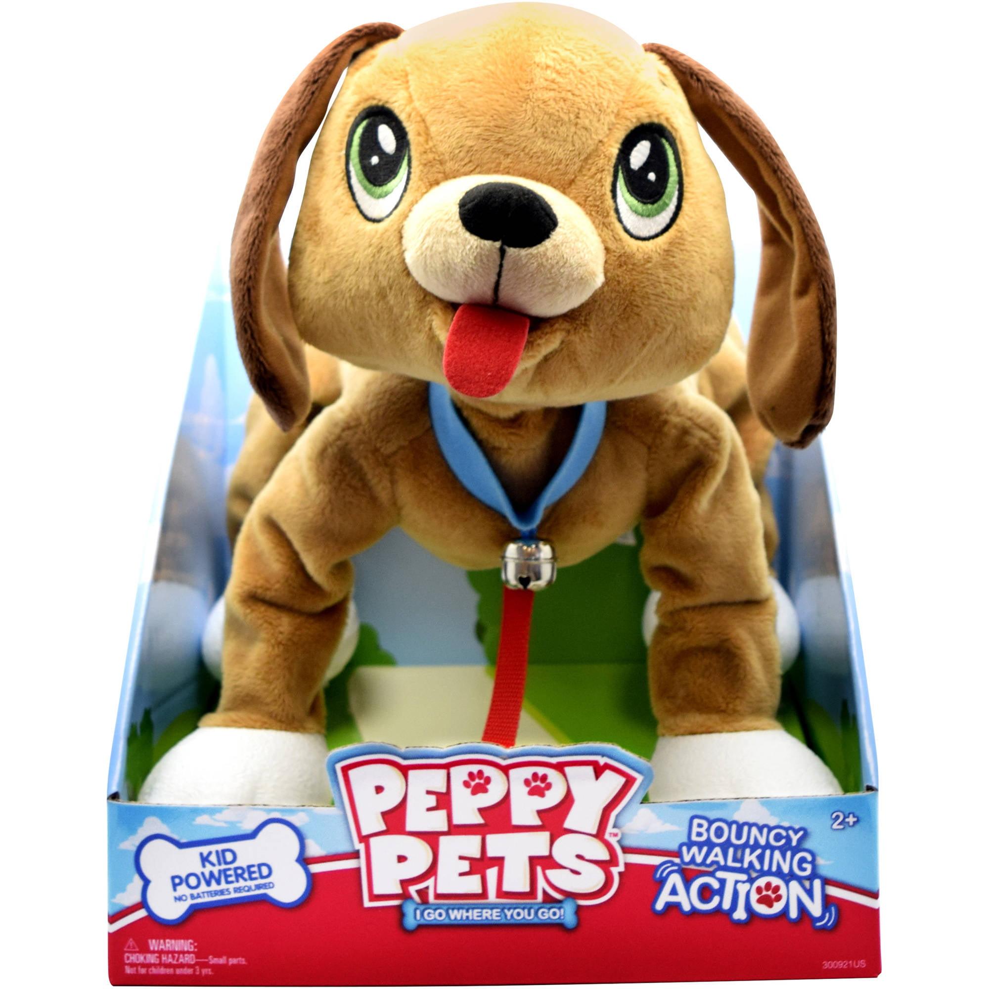 """Peppy Pets Mutt 11"""" Walking Puppy"""