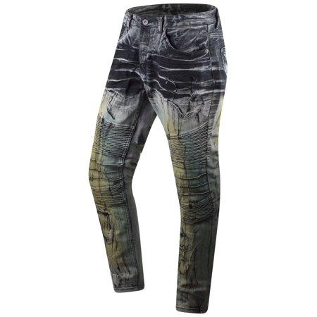 New Men Premium Black Biker Denim Jeans