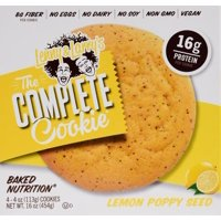 Lenny & Larry's The Complete Cookie, Lemon Poppy Seed, 16g Protein, 4 Ct