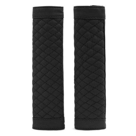 Pair Faux Leather Auto Car   Belt Shoulder Pads Cover Cushion Black Black Leather Shoulder Pad