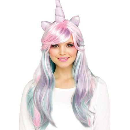 Pastel Unicorn Halloween Costume Accessory Wig - Unicorn Rider Costume