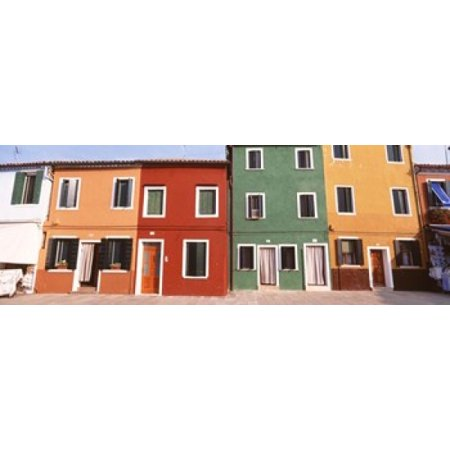 Burano Venice Italy Canvas Art   Panoramic Images  18 X 7