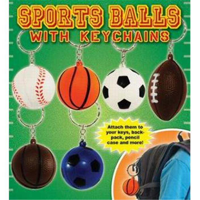 Bulk Buys Sponge 3. 5 inch Sports Ball Keychains - Football  Basketball  Baseball and Soccer - Case of 100