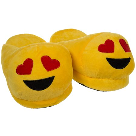 Emoji House Slippers Funny Soft Plush For Adults Kids Teens Bedroom ...