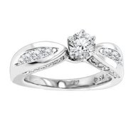Luxurman 14k Gold 1 1/4ct TDW Diamond Engagement Ring (G-H, SI1-SI2) 14k White Gold Size 5