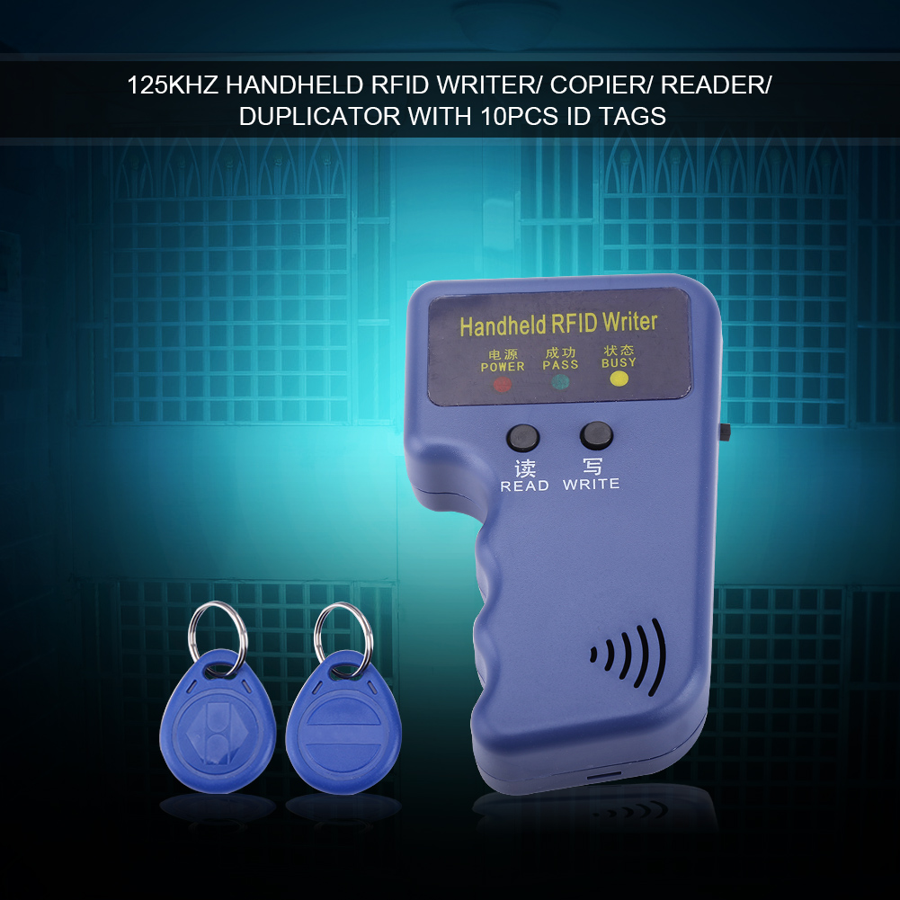 125KHz Handheld RFID Writer/ Copier/ Reader/ Duplicator With 10PCS