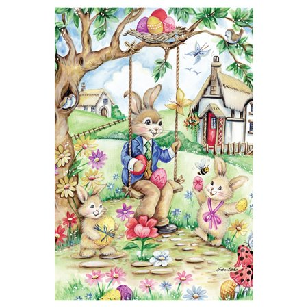 Toland Home Garden Easter Bunny Swing Flag - Easter Flag