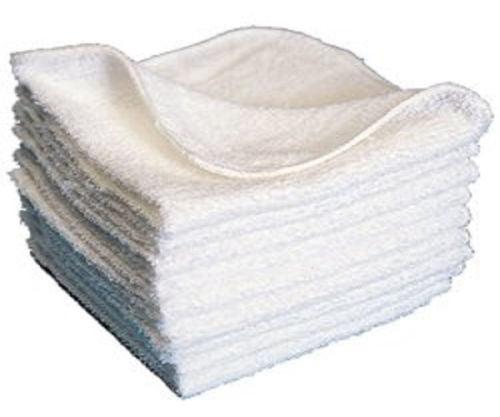 "GHP 240-Pcs White 12""x12"" 100% Cotton Oil Absorbing & Ble..."