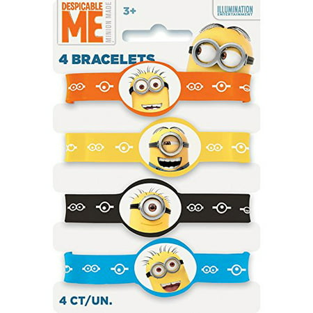 Despicable Me Party Supplies (Despicable Me Minions Rubber Bracelet Party Favors, Assorted,)