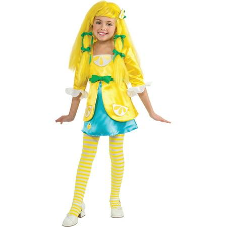 Girl's Deluxe Strawberry Shortcake Lemon Meringue Costume