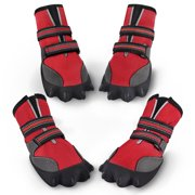 Dog Shoes Waterproof Dog Boots Anti-slip Pet Shoes, Red, 5 Yards