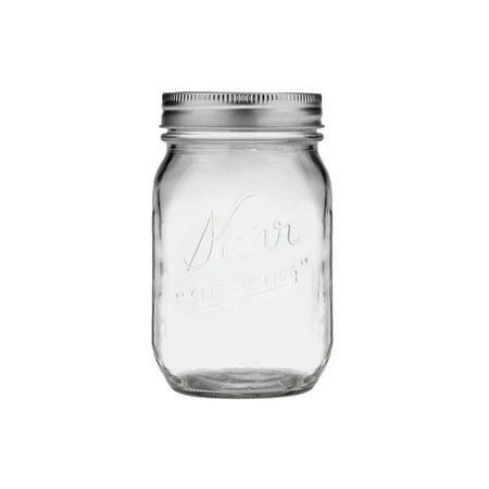 Kerr Glass Mason Jars w/ Lids & Bands, Regular Mouth, 16 Ounces, 12 - Decorate Mason Jars For Halloween