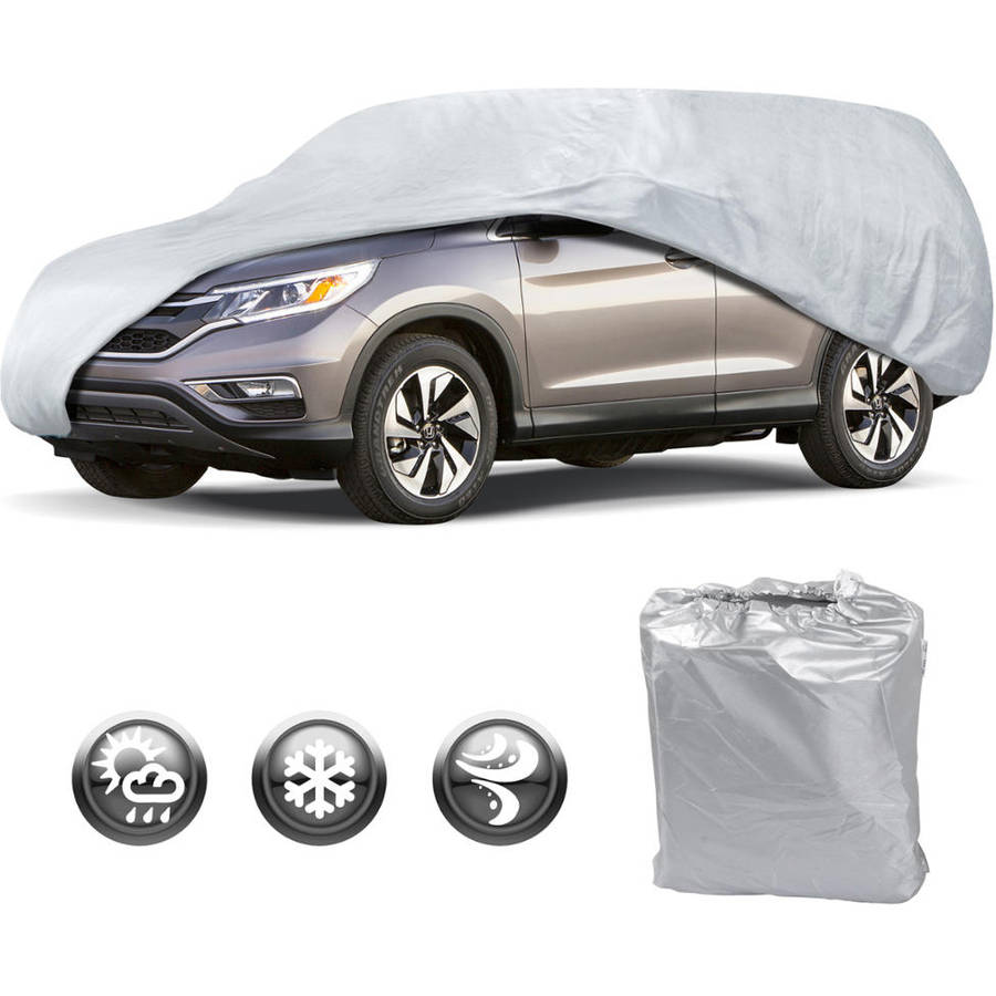 Motor Trend All Season WeatherWear 1-Poly Layer Snowproof, Water-Resistant SUV Van Cover