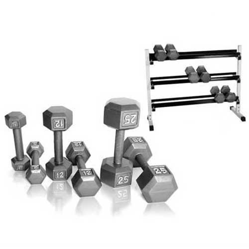Yukon 5-50 lbs Dumbbell Set w/ Rack