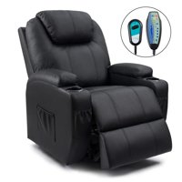 Walnew Recliner Chair Power Lift Massage Heating Function Recliner Single Living Room Sofa Seat with Huge Headrest and Thick Armrest