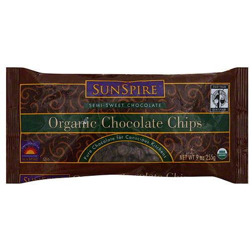 Sunspire Organic Semi-Sweet Chocolate Chips, 9 oz (Pack of 12)