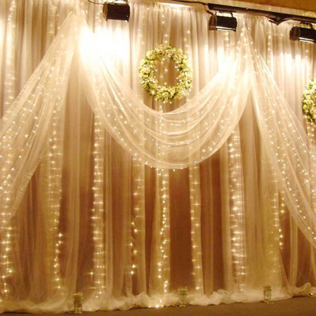 Curtains Ideas curtain lighting : 224led 9.8ft*6.6ft Curtain String Fairy Wedding Led Lights for ...