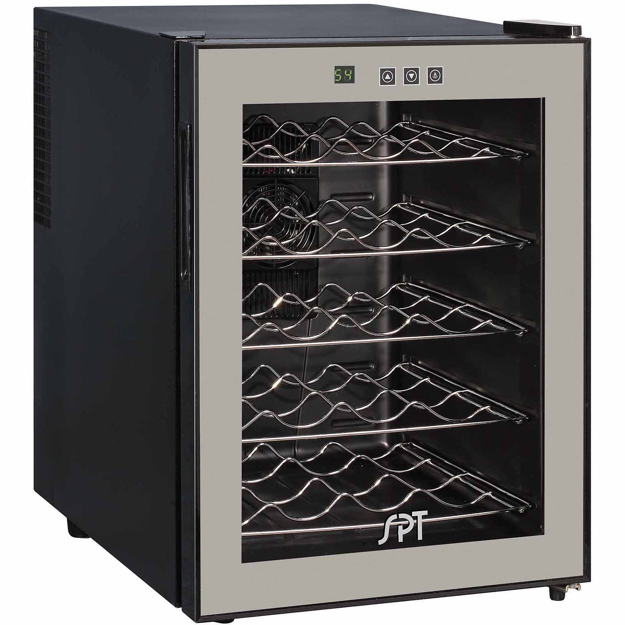 Sunpentown 20-Bottle Thermo-Electric Wine Cooler with Touch-Sensitive Control, Black