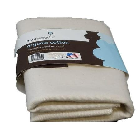 Naturepedic Organic Cotton Flat Waterproof Mini Pad Pk42w  Fits Stokke Sleepi Mini