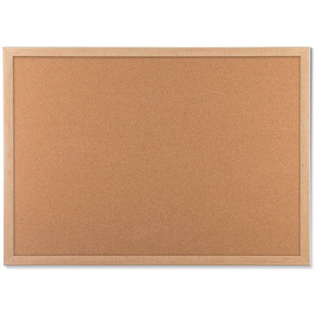 U Brands Cork Bulletin Board, 48 x 36 Inches, Birch MDF Frame