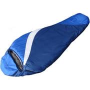 Ozark Trail 0-Degree Adult Mummy Climatech Fiber Sleeping Bag, Blue/White/Dark Blue