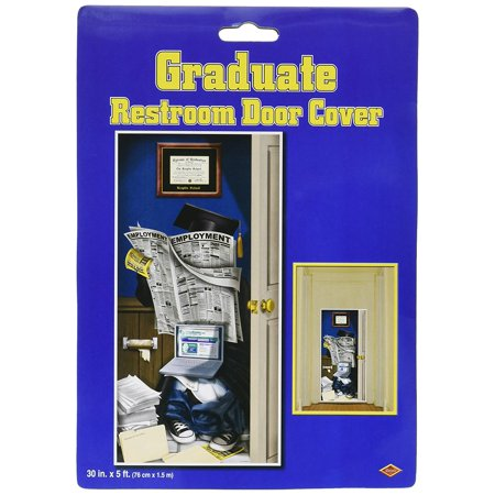 Congrats Grad Door Cover Party Accessory (1 count) (1/Pkg), This item is a great value! By Beistle - Graduation Party Items
