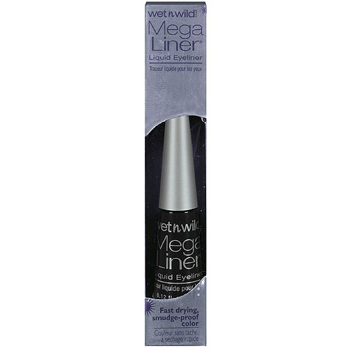 Wet n Wild Mega Liner Eye Liner, 861 Liquid Black, 0.12 fl oz