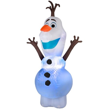disney gemmy lighted olaf christmas inflatable with swirling colors of light indooroutdoor decoration - Olaf Outdoor Christmas Decoration