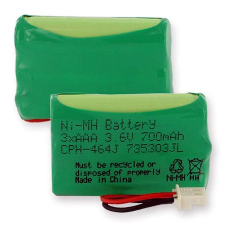 Empire CPH-464J 3.6V 1 x 3 in. 3 AAA Nickel Metal Hydride Battery 700 mAh & J Connector - 2.52 -