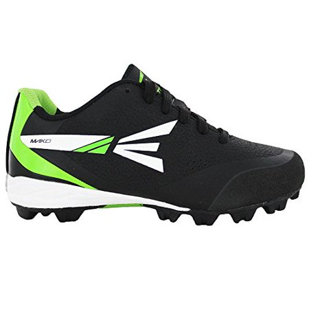 Easton MAKO Low Kids' Baseball Cleats (Black/Green, (Black Metal Baseball Cleats)