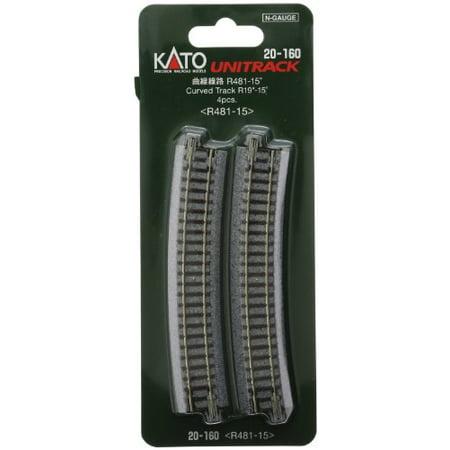 Scale Kato Unitrack Track Curved - Kato 20-160 N Scale Unitrack, 481mm 19