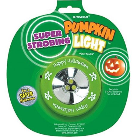 Pumpkin Strobe Light Halloween Trick or Treat Party Pumpkin Carving Activity Decoration, Plastic, 2