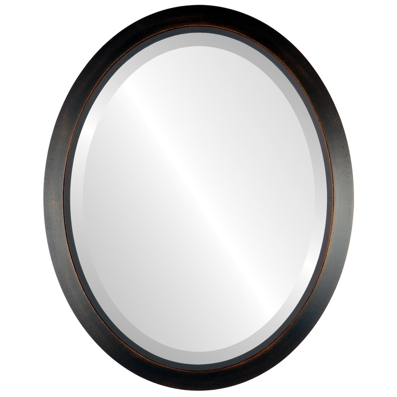 The Oval and Round Mirror Store Regatta Framed Oval Mirror in Rubbed Bronze Antique Bronze by Overstock