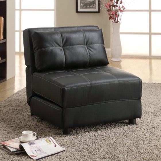 Coaster Company Black Accent Lounge Chair Futon Sofa Bed