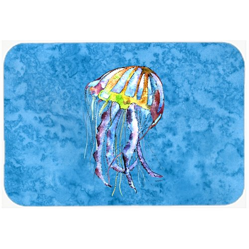 Caroline's Treasures Jellyfish Kitchen/Bath Mat